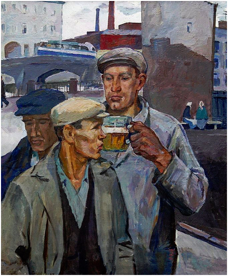 """Drinking Beer"" by Alexander Stolbov [1967]"
