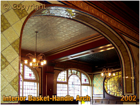 Basket-Handle Arch inside the Barton's Arms at Aston