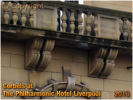 Corbels at the Philharmonic Hotel at Liverpool [2013]