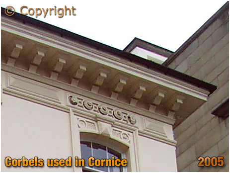 Corbel used in the Cornice to support Roof Overhang