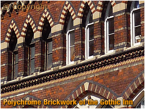 Polychrome Brickwork of the Gothic Inn at Hockley