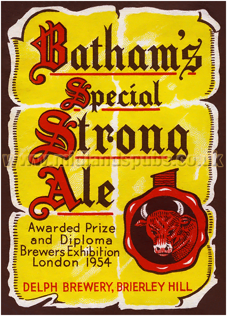 Batham's Special Strong Ale [1950s]
