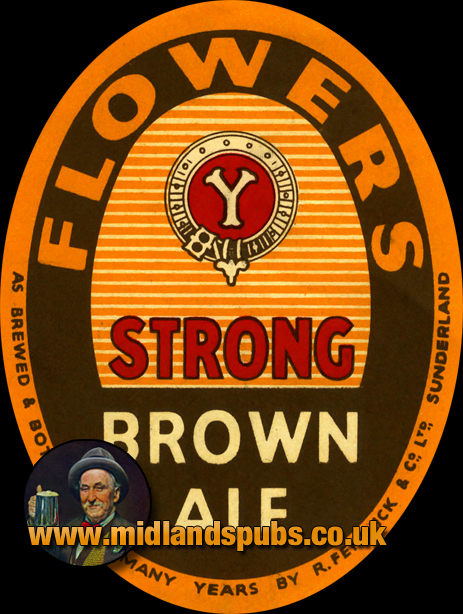 Flower's Strong Brown Ale Beer Label [c.1950s]
