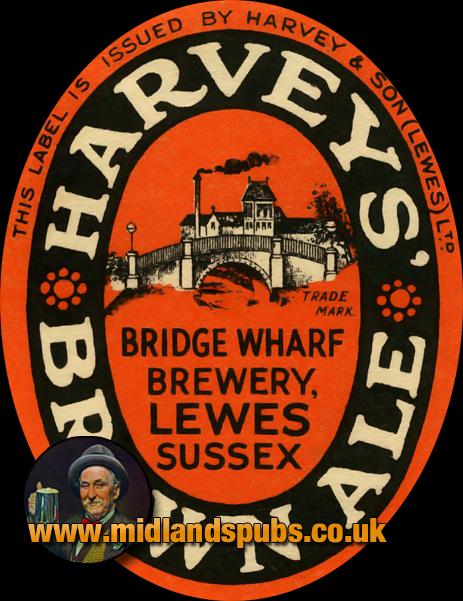 Harvey's Brown Ale Beer Label [c.1950s]