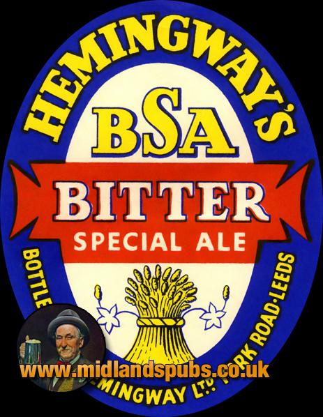 Hemingway's BSA Bitter Ale Beer Label [c.1940s]