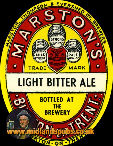 Marston's Light Bitter Ale Beer Label [c.1950s]