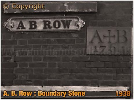 Birmingham : Boundary Stone on the corner of A. B. Row [1938]