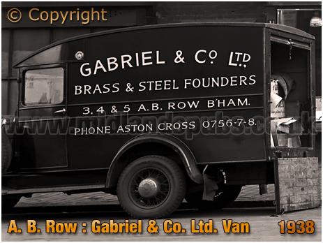 Birmingham : Van of Gabriel & Company Ltd. Brass and Steel Founders of A. B. Row [1938]