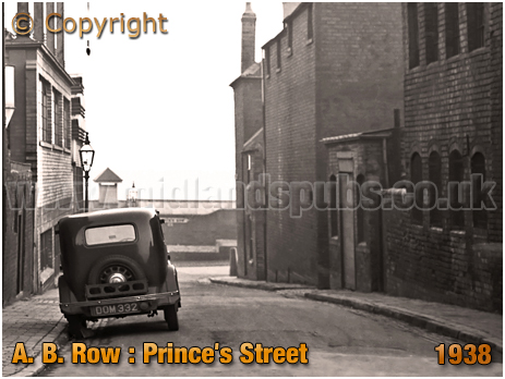 Birmingham : View of Prince's Street from A. B. Row [1938]