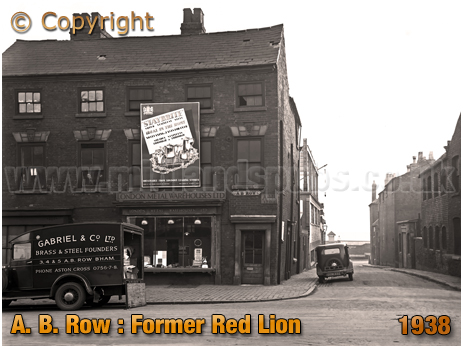 Birmingham : Former Red Lion at A. B. Row [1938]