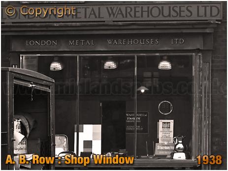 Birmingham : Shop Window of London Metal Warehouses Ltd. at A. B. Row [1938]