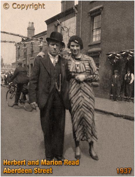 Birmingham : Herbert and Marion Red in Aberdeen Street at Winson Green [1937]