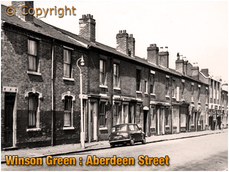 Birmingham : Terraced Houses in Aberdeen Street at Winson Green [1960s]