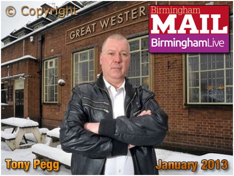 Birmingham : Tony Pegg licensee of The Great Western at Acock's Green [2013]