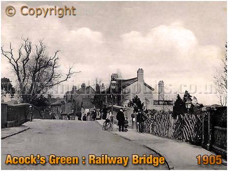 Birmingham : Acock's Green Bridge and Great Western Hotel [1905]