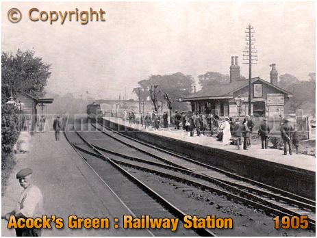 Birmingham : Acock's Green Railway Station [1905]