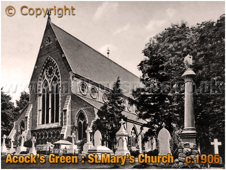 Birmingham : Saint Mary' Church at Acock's Green [c.1906]