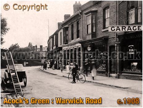 Birmingham : Warwick Road at Acock's Green [c.1908]
