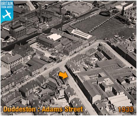 Birmingham : Aerial View of Adams Street at Duddeston [1933]