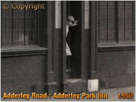 Birmingham : Girl at the Adderley Park Inn on Adderley Road at Saltley [1960]
