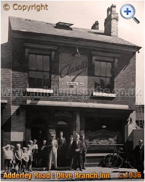 Birmingham : The Olive Branch Inn on Adderley Road at Saltley [c.1936]