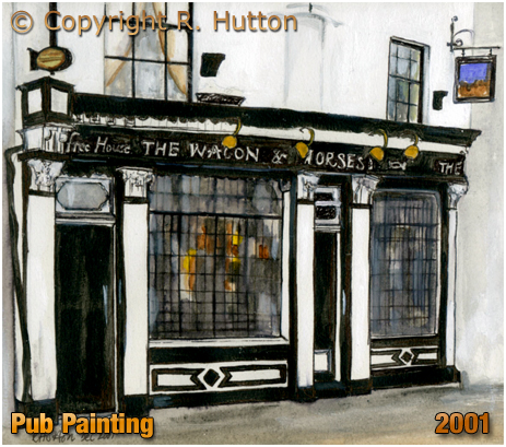 Birmingham : Painting of the Waggon and Horses on Adderley Street in Bordesley by R. Hutton [2001]