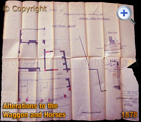 Birmingham : Plan for alterations to the Waggon and Horses on Adderley Street in Bordesley [1878]