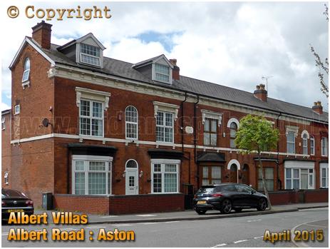 Birmingham : Albert Villas near corner of Albert Road and Upper Thomas Street in Aston [c.2015]