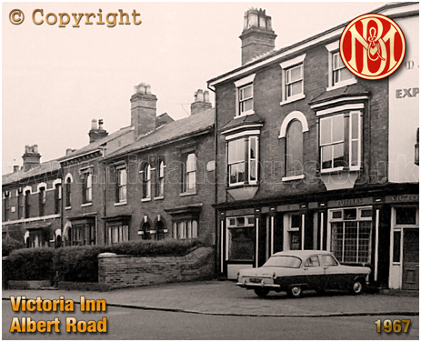 The Victoria Inn on the corner of Albert Road and Upper Thomas Street in Aston [1967]