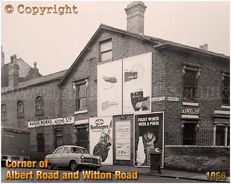 Birmingham : Junction of Albert Road and Witton Road in Aston [1966]