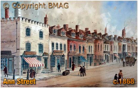 Watercolour Painting of Ann Street by Paul Braddon [c.1868]