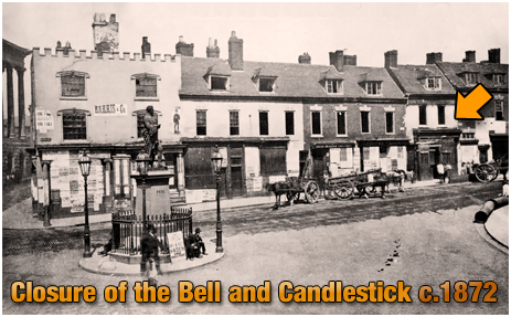 Birmingham : Closure of the Bell and Candlestick on Ann Street [c.1872]