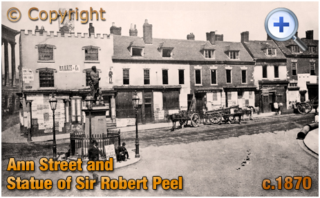 Birmingham : Ann Street and Statue of Sir Robert Peel [c.1872]