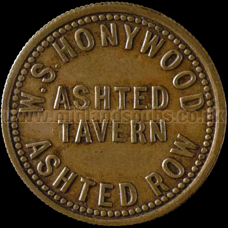 Tavern Check for the Ashted Tavern at Ashted Row in Birmingham