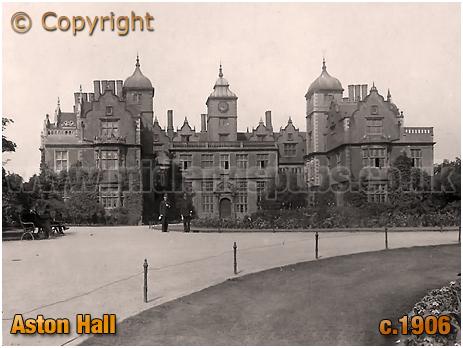 Birmingham : Aston Hall with Ground Staff [c.1906]