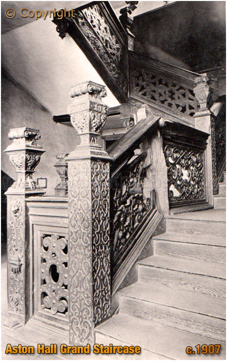 Birmingham : The Grand Staircase at Aston Hall [c.1906]