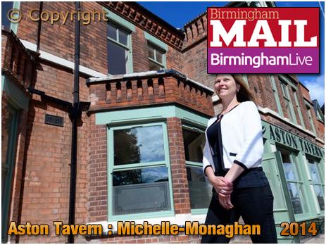 Birmingham : Michelle Monaghan outside the restored Aston Tavern on Aston Hall Road [2014]