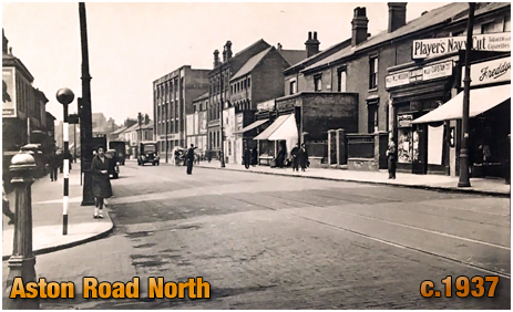 Birmingham : Aston Road North near junction with Sutton Street [1937s]