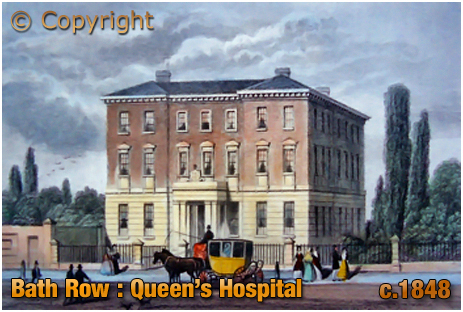 Queen's Hospital : engraving published in Dugdale's England and Wales Delineated [c.1848]