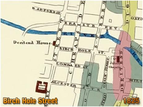 Birmingham : Birch Hole Street shown on James Drake's Plan [1825]