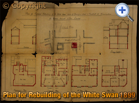 Birmingham : Plan for the rebuilding of the White Swan on the corner of Birchall Street and Bradford Street in Deritend [1899]