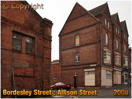 Birmingham : Properties on the corner of Bordesley Street and Allison Street [2008]