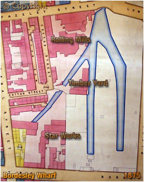Birmingham : Gooch Estate Plan showing Bordesley Wharf Canal Basins [1875]