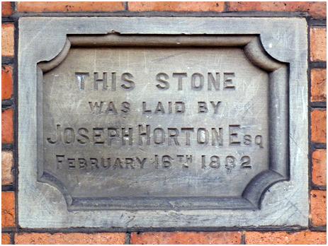 Birmingham : Date Stone on the former pig market in Bordesley Street