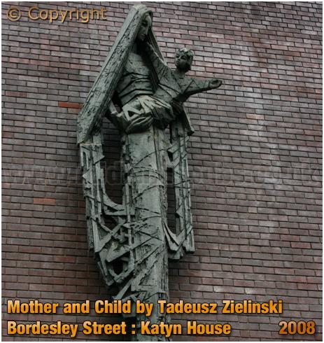 "Birmingham : ""Mother and Child"" by Tadeusz Zielinski at Katyn House on Bordesley Street [2008]"