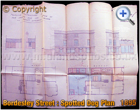 Birmingham : Building Plan of the Spotted Dog on the corner of Bordesley Street and Meriden Street in Digbeth [1895]