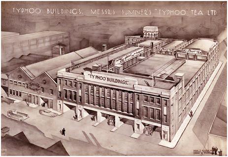 Birmingham : Typhoo Buildings on Bordesley Street [1937]