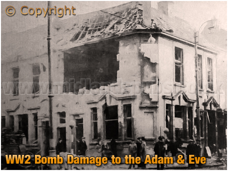 Birmingham : World War 2 Bomb Damage at the Adam and Eve in Bradford Street at Bordesley [1941]