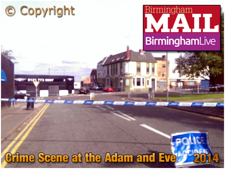 Birmingham : Crime Scene around the Adam and Eve in Bradford Street at Bordesley [2014]