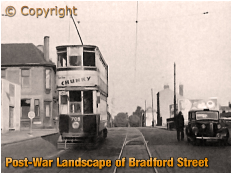 Birmingham : Post-War Landscape of Bradford Street at Bordesley [c.1950]
